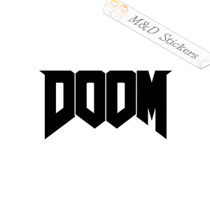 2x Doom logo Vinyl Decal Sticker Different colors & size for Cars/Bikes/Windows