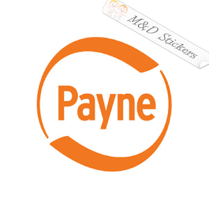 2x Payne Logo Vinyl Decal Sticker Different colors & size for Cars/Bikes/Windows