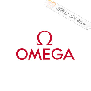 2x Omega Logo Vinyl Decal Sticker Different colors & size for Cars/Bikes/Windows