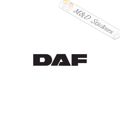 2x DAF Trucks Logo Decal Sticker Different colors & size for Cars/Bikes/Windows