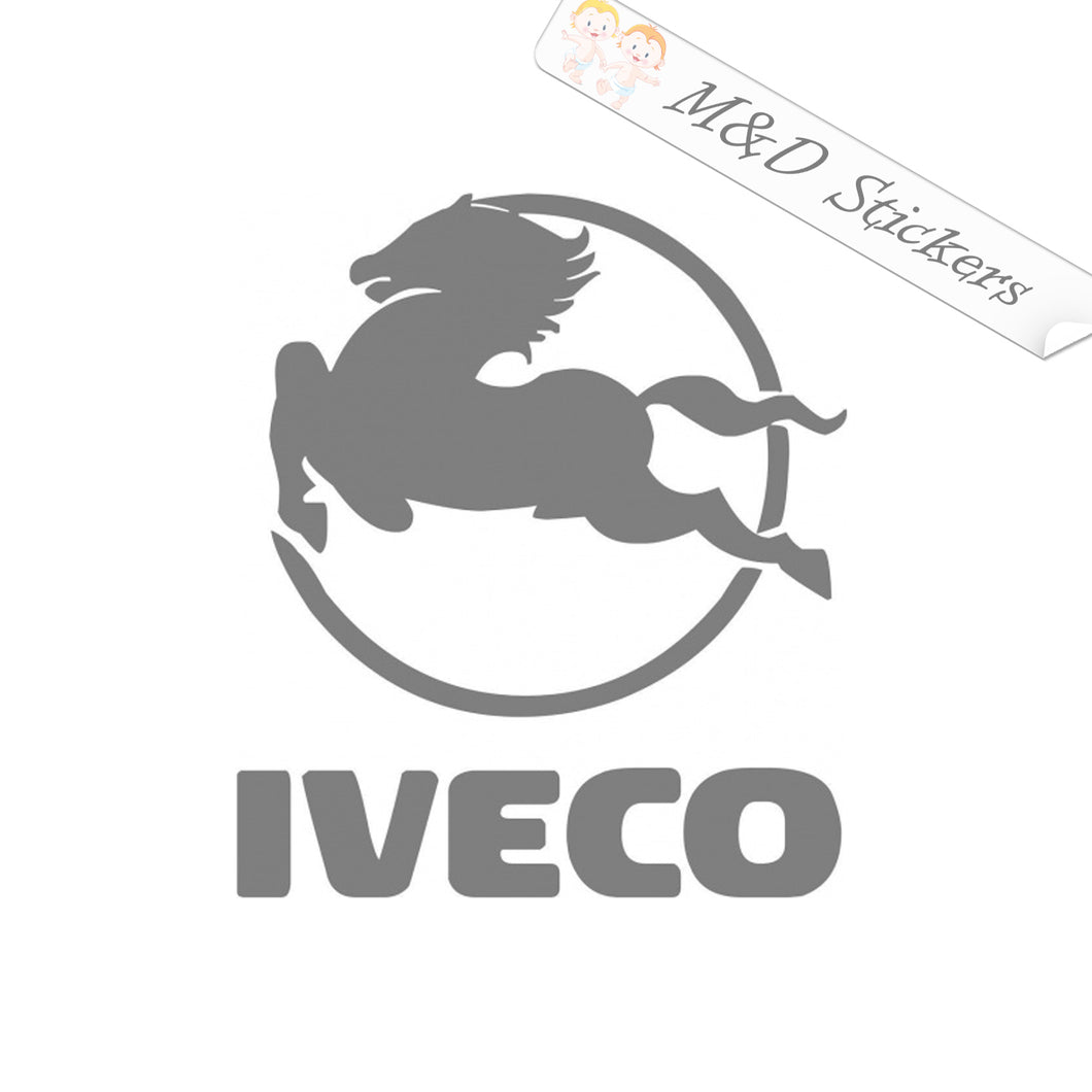 2x Iveco Trucks Logo Decal Sticker Different colors & size for Cars/Bikes/Windows