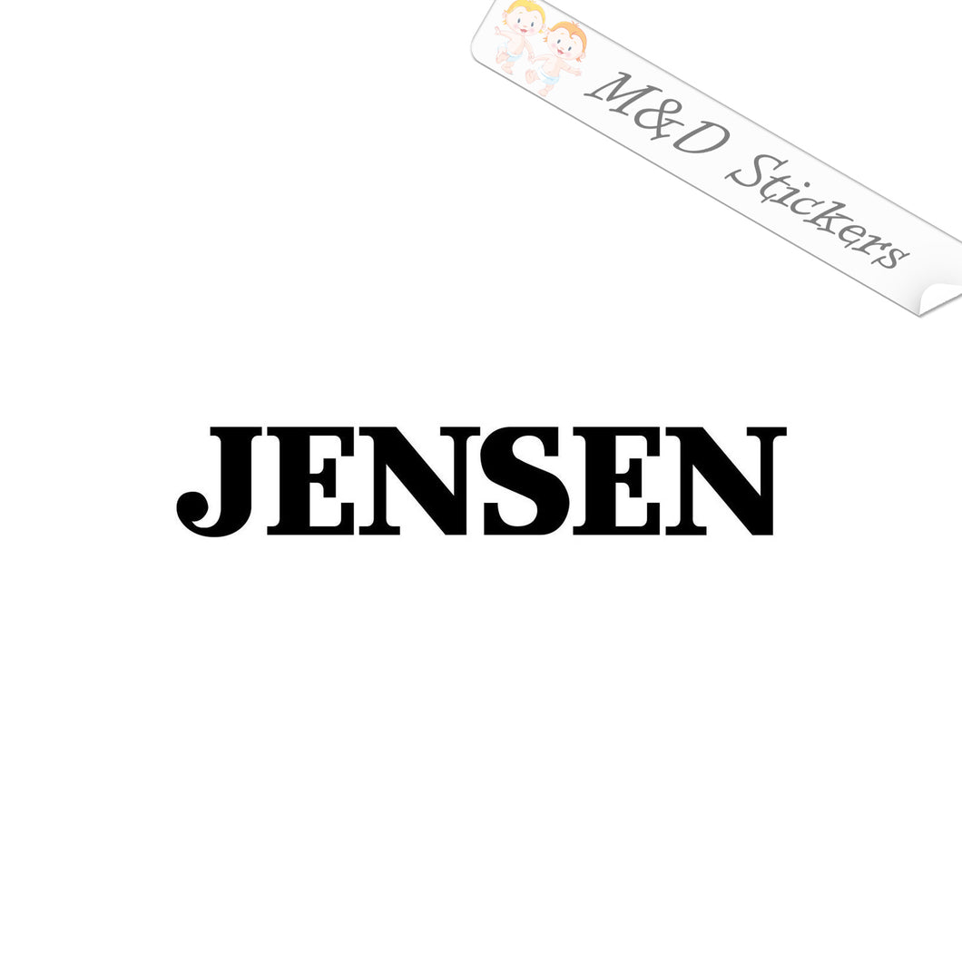 2x Jensen Vinyl Decal Sticker Different colors & size for Cars/Bikes/Windows