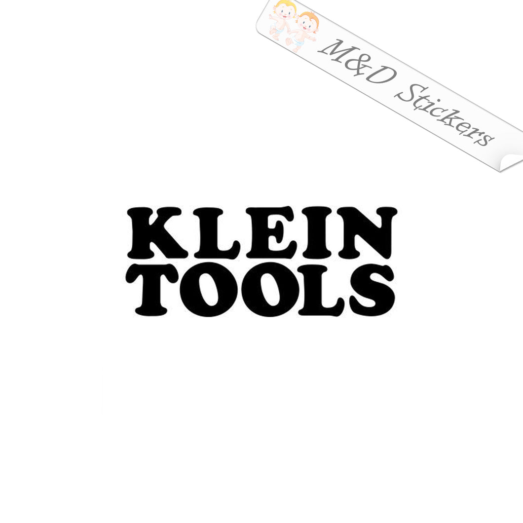 2x Klein Tools Logo Vinyl Decal Sticker Different colors & size for Cars/Bikes/Windows