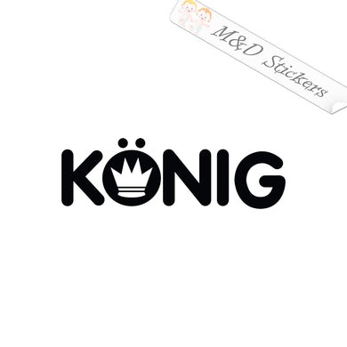 2x Konig wheels Logo Vinyl Decal Sticker Different colors & size for Cars/Bikes/Windows