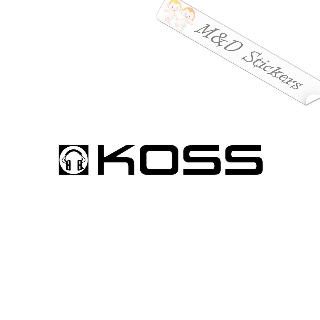 2x Koss Vinyl Decal Sticker Different colors & size for Cars/Bikes/Windows