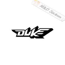 2x KTM Duke Logo Vinyl Decal Sticker Different colors & size for Cars/Bikes/Windows