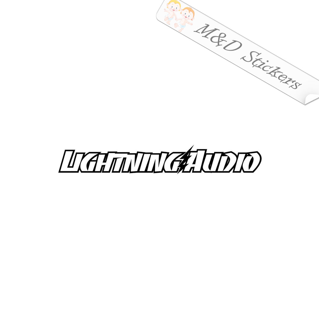 2x Lightning Audio Vinyl Decal Sticker Different colors & size for Cars/Bikes/Windows