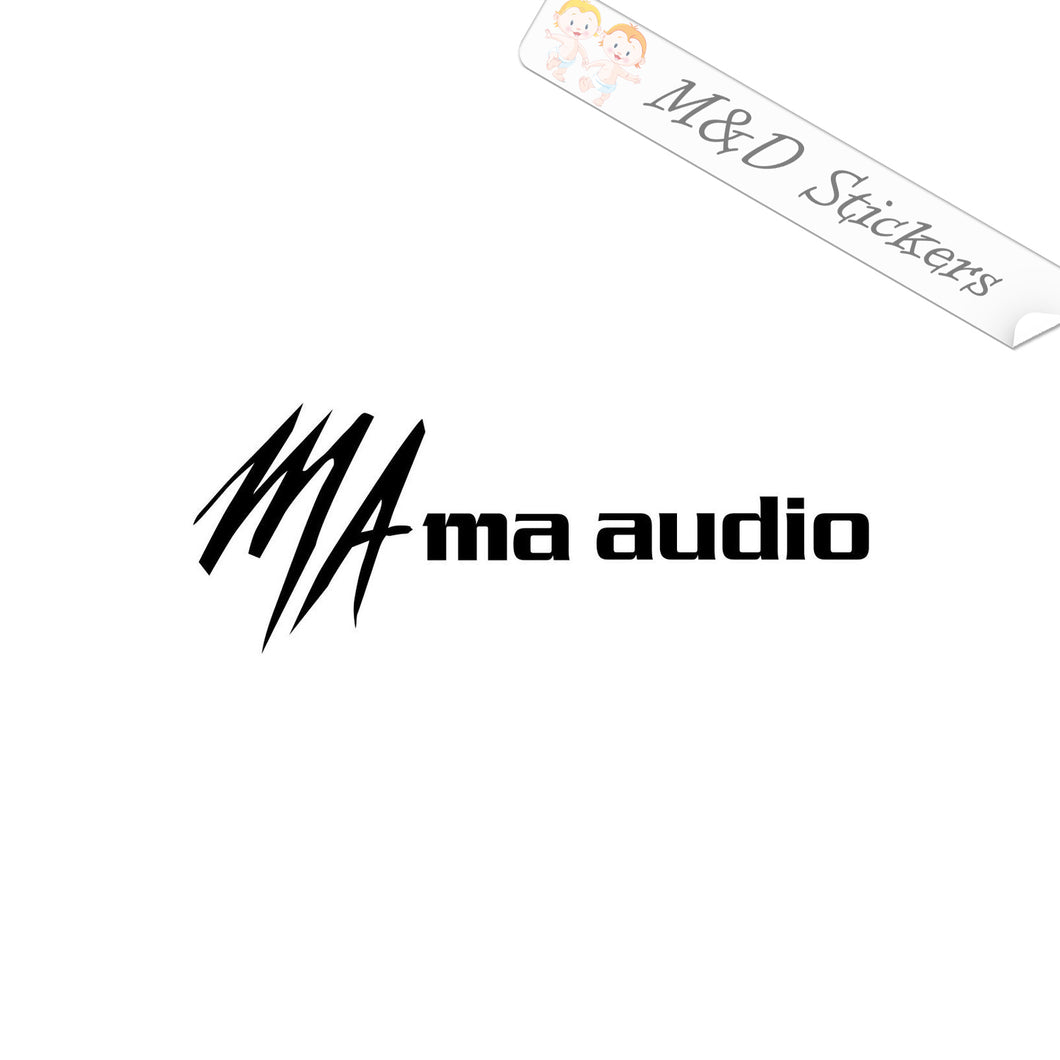 2x ma Audio Vinyl Decal Sticker Different colors & size for Cars/Bikes/Windows