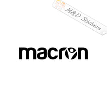 2x Macron Logo Vinyl Decal Sticker Different colors & size for Cars/Bikes/Windows