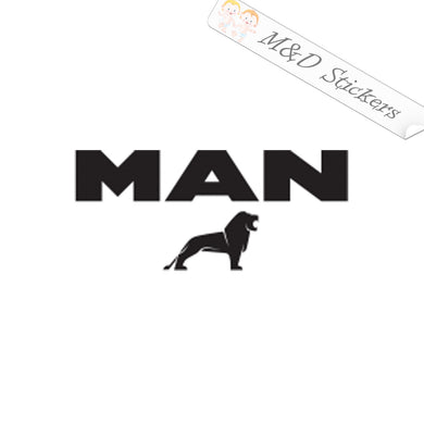 2x MAN Trucks Logo Decal Sticker Different colors & size for Cars/Bikes/Windows