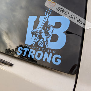 XL Virginia Beach VBStrong Vinyl Decal Sticker Different colors & size for Cars/Bikes/Windows