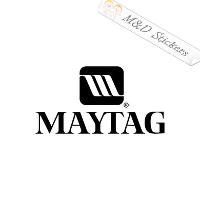 2x Maytag Logo Vinyl Decal Sticker Different colors & size for Cars/Bikes/Windows