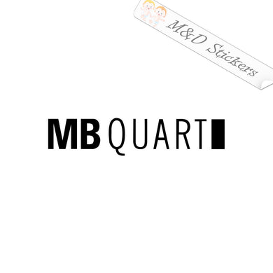 2x MB Quart Vinyl Decal Sticker Different colors & size for Cars/Bikes/Windows
