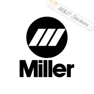 2x Miller Tools Logo Vinyl Decal Sticker Different colors & size for Cars/Bikes/Windows