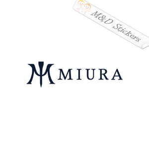 2x Miura Golf Logo Vinyl Decal Sticker Different colors & size for Cars/Bikes/Windows