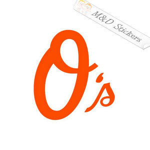 2x Baltimore Orioles Vinyl Decal Sticker Different colors & size for Cars/Bikes/Windows