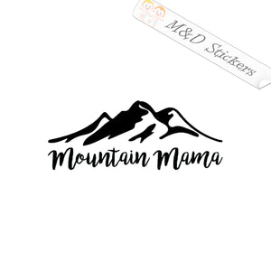 2x Mountain mama Vinyl Decal Sticker Different colors & size for Cars/Bikes/Windows