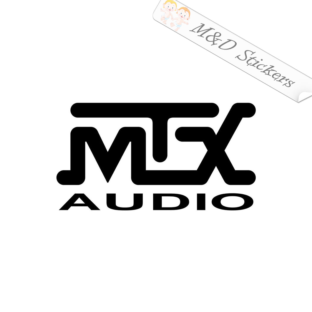 2x mtx Audio Vinyl Decal Sticker Different colors & size for Cars/Bikes/Windows