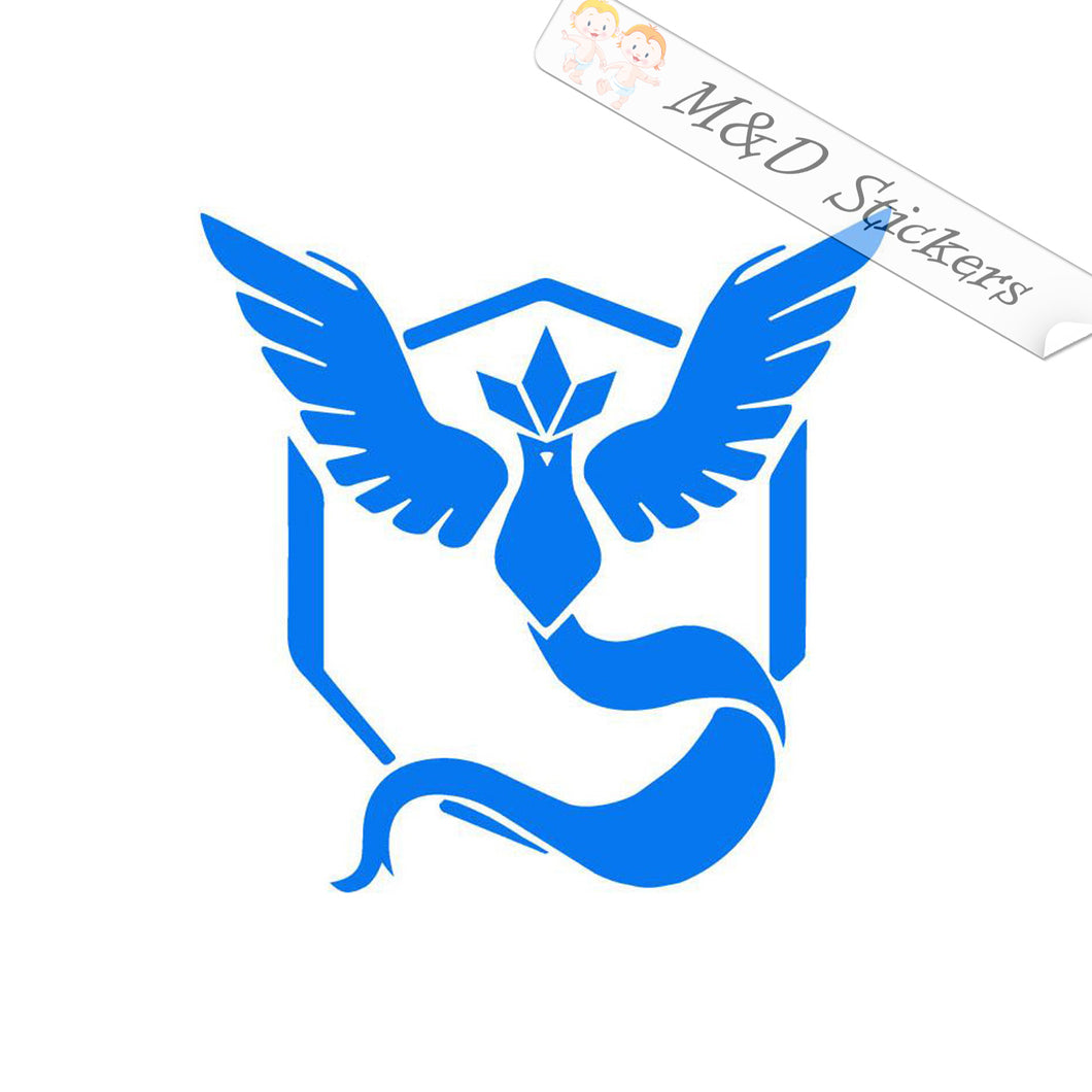 2x Pokemon Team Mystic Logo Vinyl Decal Sticker Different colors & size for Cars/Bikes/Windows