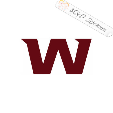 2x Washington Football Team Vinyl Decal Sticker Different colors & size for Cars/Bikes/Windows