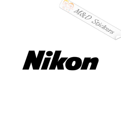 2x Nikon Logo Vinyl Decal Sticker Different colors & size for Cars/Bikes/Windows