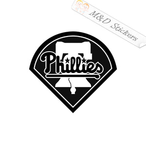 2x Philadelphia Phillies Vinyl Decal Sticker Different colors & size for Cars/Bikes/Windows