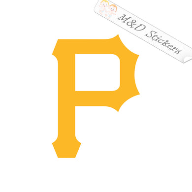 2x Pittsburgh Pirates Vinyl Decal Sticker Different colors & size for Cars/Bikes/Windows