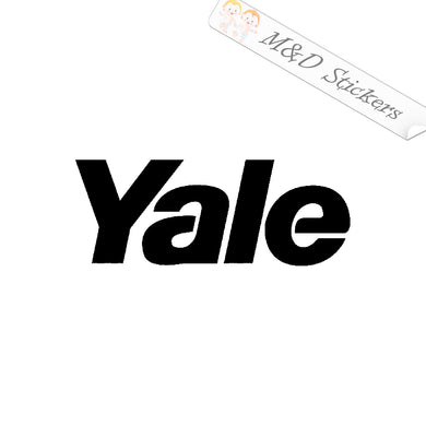 2x Yale Forklift Logo Vinyl Decal Sticker Different colors & size for Cars/Bikes/Windows