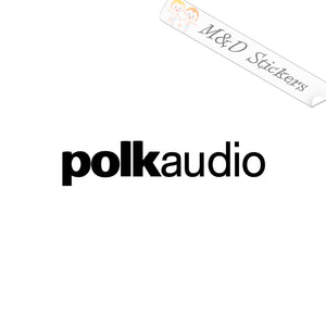 2x Polk Audio Vinyl Decal Sticker Different colors & size for Cars/Bikes/Windows