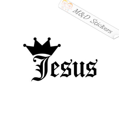 2x Jesus is king Vinyl Decal Sticker Different colors & size for Cars/Bikes/Windows