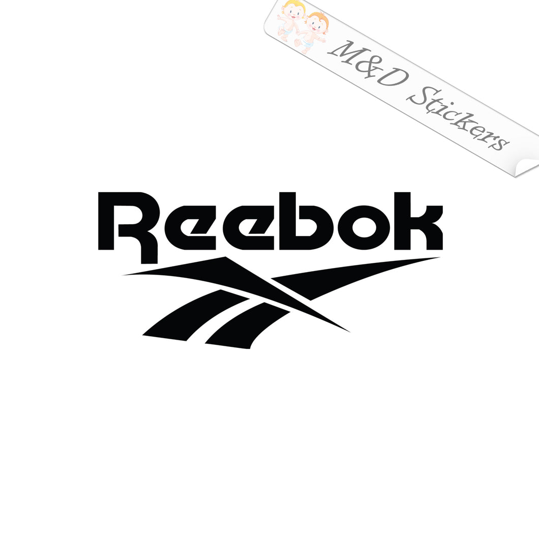 2x Reebok Logo Vinyl Decal Sticker Different colors & size for Cars/Bikes/Windows