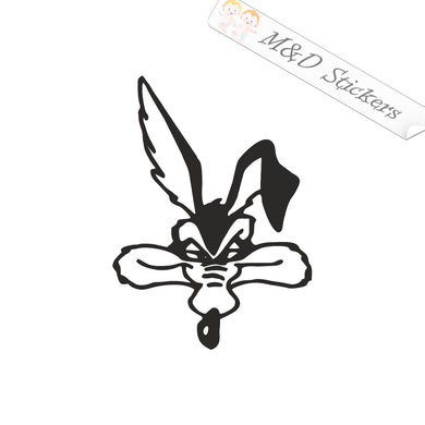 2x Wile E Coyote Vinyl Decal Sticker Different colors & size for Cars/Bikes/Windows