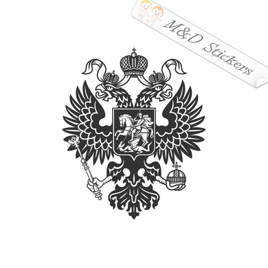 XL (extra large) Russian Coat of Arms Vinyl Decal Sticker Different colors & size for Cars/Bikes/Windows