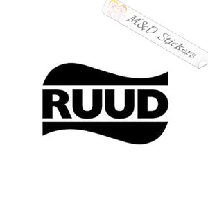 2x Ruud Logo Vinyl Decal Sticker Different colors & size for Cars/Bikes/Windows