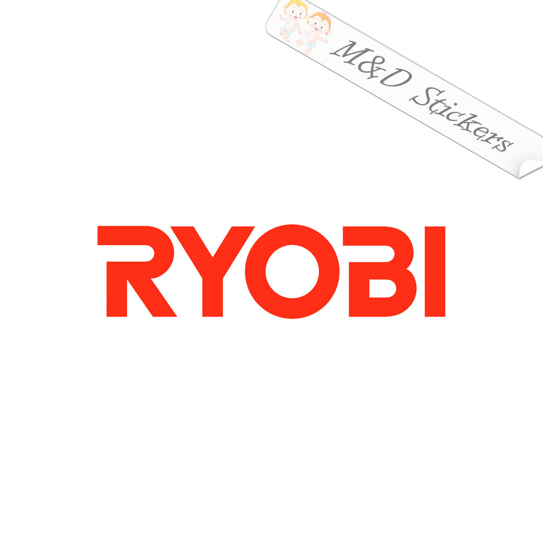 2x Ryobi Logo Vinyl Decal Sticker Different colors & size for Cars/Bikes/Windows