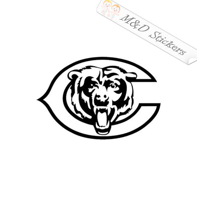 2x Chicago Bears Head logo Vinyl Decal Sticker Different colors & size for Cars/Bikes/Windows