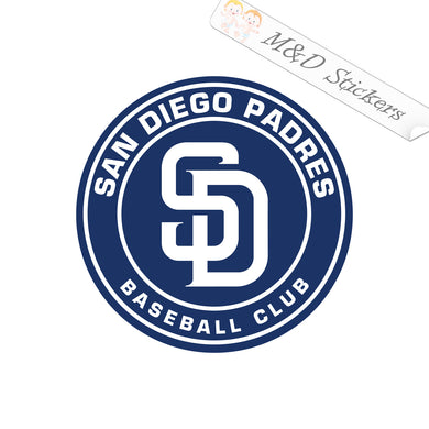 2x San Diego Padres Vinyl Decal Sticker Different colors & size for Cars/Bikes/Windows