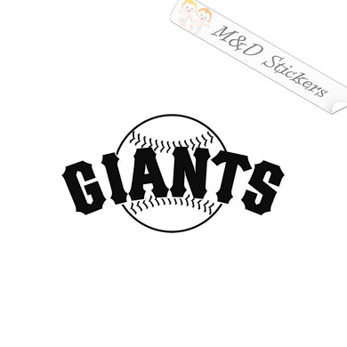 2x San Francisco Giants Vinyl Decal Sticker Different colors & size for Cars/Bikes/Windows