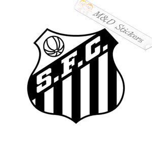 2x Brasil Santos Football Club Soccer Vinyl Decal Sticker Different colors & size for Cars/Bikes/Windows