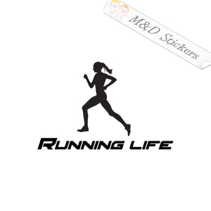 2x Running Life Sport Vinyl Decal Sticker Different colors & size for Cars/Bikes/Windows