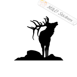 2x Deer Vinyl Decal Sticker Different colors & size for Cars/Bikes/Windows