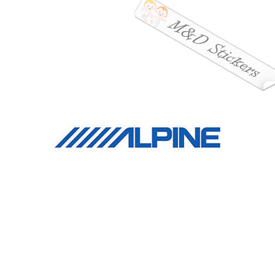 2x Alpine Vinyl Decal Sticker Different colors & size for Cars/Bikes/Windows