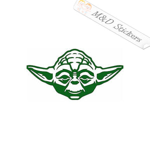 2x Yoda Star Wars Vinyl Decal Sticker Different colors & size for Cars/Bikes/Windows