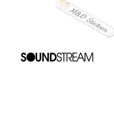 2x Soundstream Vinyl Decal Sticker Different colors & size for Cars/Bikes/Windows