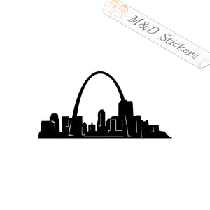 2x American St Louis City Skyline Vinyl Decal Sticker Different colors & size for Cars/Bikes/Windows