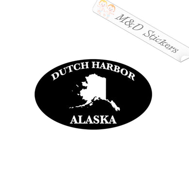 2x Dutch Harbor Alaska State Oval Euro Bumper Vinyl Decal Sticker Different colors & size for Cars/Bikes/Windows