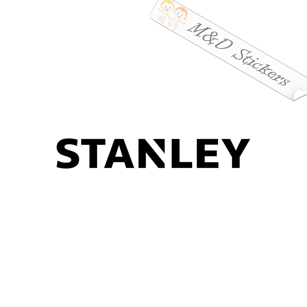 2x Stanley Logo Vinyl Decal Sticker Different colors & size for Cars/Bikes/Windows