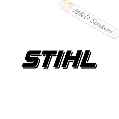 2x Stihl Logo Vinyl Decal Sticker Different colors & size for Cars/Bikes/Windows