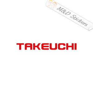 2x Takeuchi Logo Vinyl Decal Sticker Different colors & size for Cars/Bikes/Windows