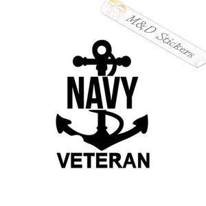 2x US Navy Veteran Vinyl Decal Sticker Different colors & size for Cars/Bikes/Windows